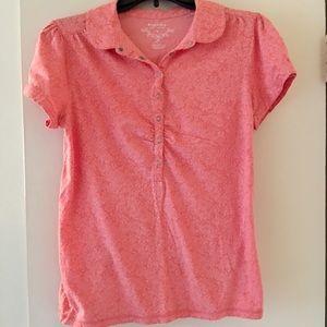 Pink shirt sleeve top